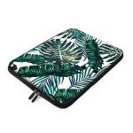 11 - 13.3 Laptop Sleeve , iCasso Palm Leaf Pattern Nylon Protecteur Cover Imperméable étui Housse pour MacBook Air, MacBook Pro, Tablet PC, Ultrabook, 11 - 13,3 Pouces Ordinateur Portable de la marque iCasso image 2 produit