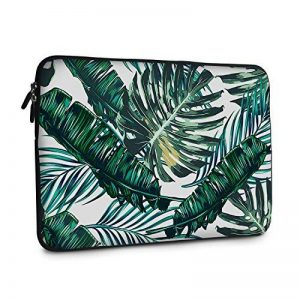 11 - 13.3 Laptop Sleeve , iCasso Palm Leaf Pattern Nylon Protecteur Cover Imperméable étui Housse pour MacBook Air, MacBook Pro, Tablet PC, Ultrabook, 11 - 13,3 Pouces Ordinateur Portable de la marque iCasso image 0 produit