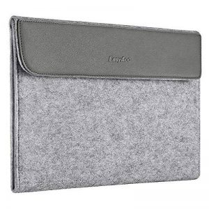 "[13-13,3 Pouces] EasyAcc Housse Etui pour Ordinateur Portable en Feutre et Cuir avec Poche de Accessoire, Sacoche de transport pour 13"" MacBook Air/ Pro Retina/ Ultrabook/ Notebook/ Tablette – Gris de la marque EasyAcc image 0 produit"