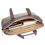 15-15.6 Pouce Sac à Main/Serviette/Sacoche en Toile pour Apple iPad Pro/PC portable/MacBook Pro/MacBook Air Ordinateur Portable Gris de la marque WanQin image 4 produit