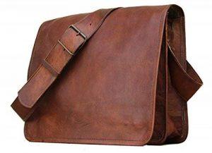 """16"""" Veste en cuir véritable rabat complet Sacoche pour ordinateur portable/MacBook Sac by Krish de la marque krishhandcrafts image 0 produit"""