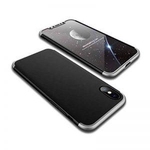 Adamark Coque iPhone X, Coque iPhone 10 360 Degree Antichoc Protection PC 3 en 1 Anti-Scratch Full Body Cover Housse Integrale Bumper Etui Case Protège Écran en Verre Trempé pour iPhone X/10(2017) de la marque Adamark image 0 produit