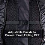 AGPTEK 2 Pcs Sac à Dos Etanche en Nylon Imperméable Couverture Anti-Pluie Anti-Poussiere pour la Randonnée/Camping/Voyage/Activités de Plein Air -S(18-25L) Noir de la marque AGPTEK image 3 produit