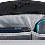 """AmazonBasics Sac à dos en toile pour ordinateur portable de maximum 15"""" (38cm) - Noir de la marque AmazonBasics image 3 produit"""