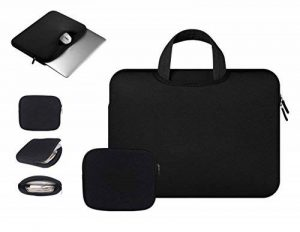 Anitech® Housse pc portable/ Pochette / Sacoche Manche Sac, MacBook Laptop Sleeve pour Apple iPad Pro et Ordinateur Portable/ MacBook Pro/ MacBook Air/ MacBook Pro Retina Ultrabook/Tablet/ Asus - Avec sac accessoires gratuit de la marque Anitech image 0 produit