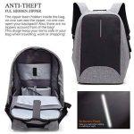 Antivol Sac à Dos pour Ordinateur Portable 15.6 Pouces avec Port de Charge USB pour Homme et Femme de la marque GENOLD image 4 produit