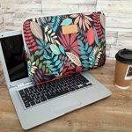 AreTop® Housse Sacoche pour iPad Tablet Ordinateur Portable 10 pouces (27 * 21 * 1.5 cm, Noir Coleus) de la marque ARETOP image 4 produit