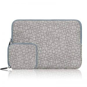 Arvok 11-11.6 Pouces Housse Ordinateur Portable avec Pochette Supplémentaire pour Macbook Air, Laptop, Ultrabook, Netbook et Tablette - Feuille Veine Gris de la marque ARVOK image 0 produit