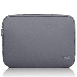 ARVOK 15 15.6 Pouces Housse pour Ordinateur Portable en Néoprène Pochette Sacoche pour Chromebook Ultrabook Netbook Tablette (Gris) de la marque ARVOK image 0 produit