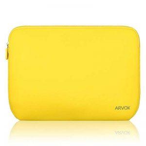 ARVOK 15 15.6 Pouces Housse pour Ordinateur Portable en Néoprène Pochette Sacoche pour Chromebook Ultrabook Netbook Tablette (Jaune) de la marque ARVOK image 0 produit