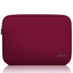 ARVOK 17 17.3 Pouces Housse pour Ordinateur Portable en Néoprène Pochette Sacoche pour Chromebook Ultrabook Netbook Tablette (Vin Rouge) de la marque ARVOK image 0 produit
