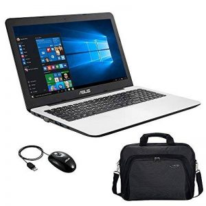 """Asus R556YI-XX302T PC Portable 15,6"""" Blanc (AMD A6, 4 Go de RAM, Disque Dur 1 To, AMD Radeon R5 M320 1G, Windows 10) + Sacoche et Souris Inclus de la marque Asus image 0 produit"""