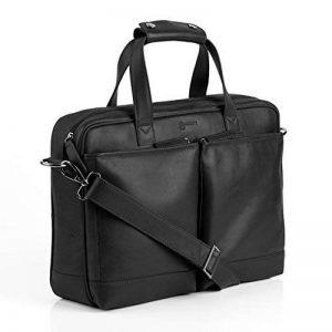 """BACCINI Housse ordinateur MARCO - grand - Sacoche pour ordinateur, étui PC portable approprié pour 15.4"""" - sac d'affairs noir en cuir véritable de la marque BACCINI image 0 produit"""