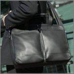"""BACCINI Housse ordinateur MARCO - grand - Sacoche pour ordinateur, étui PC portable approprié pour 15.4"""" - sac d'affairs noir en cuir véritable de la marque BACCINI image 2 produit"""