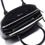 BACCINI® sac pour ordinateur portable femme ROSARIA femme - grand cartable messager sac business - sac à bandoulière sac femme noir sac cuir véritable de la marque BACCINI image 4 produit