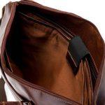 """BACCINI serviette LEANDRO - grand - attache-case approprié pour 15"""", iPad - mallete cartable avec bretelle clair marron en cuir véritable de la marque BACCINI image 3 produit"""