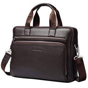 Bison Denim Mens en cuir véritable porte-documents sacs à main de la marque BISON DENIM image 0 produit