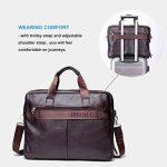 Bison Denim Mens en cuir véritable porte-documents sacs à main de la marque BISON DENIM image 2 produit