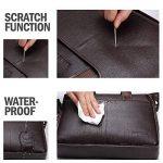 Bison Denim Mens en cuir véritable porte-documents sacs à main de la marque BISON DENIM image 3 produit