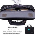 BRINCH Nouveau Style Tissu Oxford Unisexe Universal Luxury Valise Housse ordinateur portable Sacoche de Portage Malette bandoulière sac à main pour Ordinateur portable de 15 - 15.6 pouces/Notebook/Macbook /Ultrabook /Ordinateurs Chromebook (Apple/Acer/Asu image 2 produit