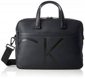 Calvin Klein Raised Logo Laptop Bag Slim, Sacs pour ordinateur portable homme, Noir (Black), 8x27x38 cm (B x H T) de la marque Calvin Klein image 0 produit