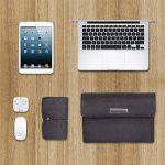 Colleer Sacoche avec compartiment pour accessoires d'ordinateur portable 13,3''- Protection Housse/Etui/Coque pour tablette Microsoft Surface Pro 3/4et MacBook Air Laptop 13,3 Zoll (33cm ) gris foncé de la marque Colleer image 3 produit