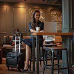 Coofit Sac à roulettes avec serrure de douane et 4 roue universelle Sacoche à roulette pour ordinateur portable 14'' Sac business Porte document roulettes Mallettes ordinateur à roulettes pour voyage de la marque Coofit image 2 produit