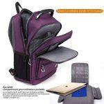 CoolBELL de 18.4 pouces Sac d'ordinateur portable Sac à dos de Voyage Sac à dos Résistant à l'eau Sac à dos de randonnée Sac à dos (Daypack) protecteur adapté à l'ordinateur portable de 15 - 18.4 pouces pour Dell /HP / Lenovo / Macbook / Acer /Femmes (Pou image 4 produit