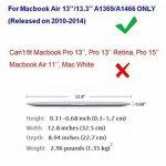 Coque MacBook Air 13.3'' - Coque en Crystal Plastique étui Housse de Protection pour Apple MacBook Air 13.3'' Pouces (Modèle A1466 / A1369) Hard Case Cover Shell (Transparent) de la marque DETUOSI image 2 produit
