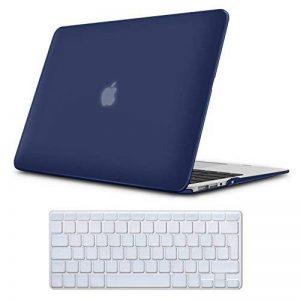 Coque MacBook Air 13 Case Bleu Marine , iCasso Design de Couleur Pure Brillante Plastique Ultra Slim étui Housse de Protection Hard Rigide Cover Shell Pour MacBook Air 13 Pouces (Modèle: A1369/A1466) de la marque iCasso image 0 produit