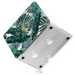 Coque MacBook Air 13 Case , iCasso Palm Leaf Pattern Brillante Plastique Ultra Slim étui Housse de Protection Hard Rigide Cover Shell Pour MacBook Air 13 Pouces (Modèle: A1369 / A1466) de la marque iCasso image 3 produit