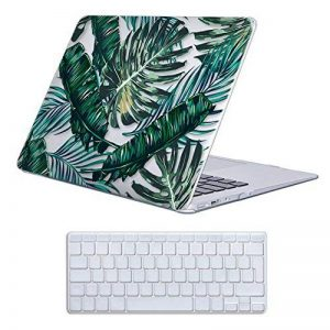 Coque MacBook Air 13 Case , iCasso Palm Leaf Pattern Brillante Plastique Ultra Slim étui Housse de Protection Hard Rigide Cover Shell Pour MacBook Air 13 Pouces (Modèle: A1369 / A1466) de la marque iCasso image 0 produit