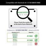 """Coque MacBook Air 13, L2W MacBook Air 13,3"""" Plastique Coque Rigide Housse pour Apple Laptop MacBook Air 13 pouces (Modèle A1369 / A1466) - Carte 38 de la marque L2W image 3 produit"""