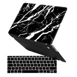 Coque MacBook Air Case, Coque MacBook Pro Case,iCasso Ultra Slim étui Housse de Protection Hard Rigide Cover Shell pour MacBook Air, Pro, Pro Rentina (Black Marble) de la marque iCasso image 0 produit