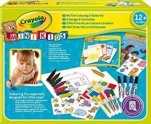 Crayola Mini Kids - 10570 - Kit de Loisir Créatif - coloriage gommettes de la marque Crayola image 0 produit