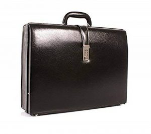 Cuir de luxe Deluxe Faux Executive Attache Case Porte-documents Gladstone Flight Bag de la marque Essential Products image 0 produit