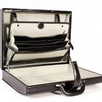 Cuir de luxe Deluxe Faux Executive Attache Case Porte-documents Gladstone Flight Bag de la marque Essential Products image 4 produit