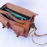 Cuir Sacs en cuir Sac à bandoulière pour homme et femme, vintage Business sacoche pour ordinateur portable et des livres à la main, robuste et vieilli ~ authentique rétro... de la marque KRISHHANDICRAFTS image 4 produit
