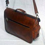 Cuir Sacs en cuir Sac à bandoulière pour homme et femme, vintage Business sacoche pour ordinateur portable et des livres à la main, robuste et vieilli ~ authentique rétro. de la marque LBC image 1 produit