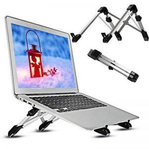 DAMIGRAM Support pour Ordinateur, Portable Pliable et Réglable Support de Laptop Ergonomique Multifonction Support Angle Réglable pour Macbook et Autres Laptop (Noir) de la marque DAMIGRAM image 0 produit