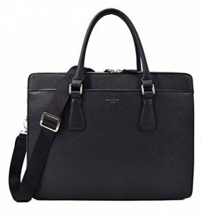 David Jones - Sac à Main Business Porte-Document Cuir PU Rigide Homme - Cartable Travail Sacoche Ordinateur Portable Multi Poche - Mallette Serviette Affaires Professionnel Epaule Bandoulière - Noir de la marque David Jones image 0 produit