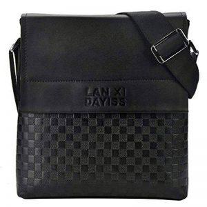 Dayiss, Sac bandoulière/sacoche homme noir PU similicuir de la marque DAYISS image 0 produit