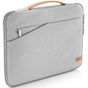 """deleyCON pour notebooks / ordinateurs portables jusqu'à 12"""" (30,48cm) Sac / pochette fait de nylon résistant - 2 poches supplémentaires - gris clair de la marque deleyCON image 0 produit"""