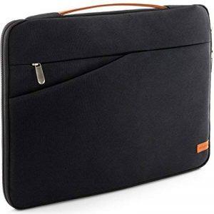 """deleyCON pour notebooks / ordinateurs portables jusqu'à 12"""" (30,48cm) Sac / pochette fait de nylon résistant - 2 poches supplémentaires - noir de la marque deleyCON image 0 produit"""