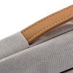 """deleyCON pour notebooks / ordinateurs portables jusqu'à 17,3"""" (43,94cm) Sac / pochette fait de nylon résistant - 2 poches supplémentaires - gris clair de la marque deleyCON image 4 produit"""