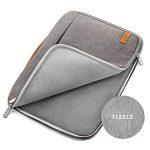 """deleyCON pour notebooks / ordinateurs portables jusqu'à 17,3"""" (43,94cm) Sac / pochette fait de nylon résistant - 2 poches supplémentaires - gris de la marque deleyCON image 2 produit"""