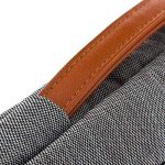 """deleyCON pour notebooks / ordinateurs portables jusqu'à 17,3"""" (43,94cm) Sac / pochette fait de nylon résistant - 2 poches supplémentaires - gris de la marque deleyCON image 4 produit"""