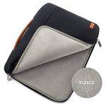 """deleyCON pour notebooks / ordinateurs portables jusqu'à 17,3"""" (43,94cm) Sac / pochette fait de nylon résistant - 2 poches supplémentaires - noir de la marque deleyCON image 2 produit"""