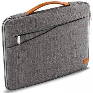 """deleyCON pour notebooks / ordinateurs portables jusqu'à 12"""" (30,48cm) Sac / pochette fait de nylon résistant - 2 poches supplémentaires - gris de la marque deleyCON image 0 produit"""