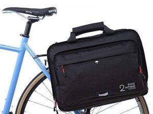 Deux Roue Gear Sacoche Malette Convertible–avec revêtement étanche–2en 1–Entier de vélos et Sac pour Ordinateur Portable Noir de la marque Two Wheel Gear image 0 produit
